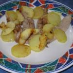 Aiguillettes de canard aux 2 pommes