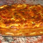 Clafoutis de poivrons aux 2 fromages