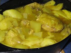 Colombo de poulet aux 2 pommes