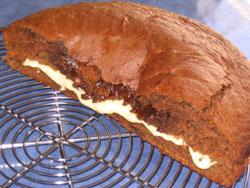 Gâteau au chocolat fourré passion