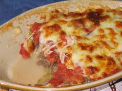 Gratin de courgettes à la mozzarella et au boeuf