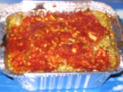 Gratin de ravioles aux courgettes