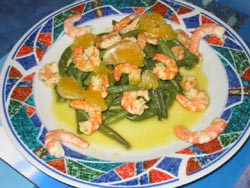 Crevettes sauce agrumes