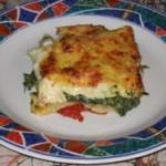Lasagnes aux épinards et à la tomate