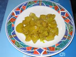 Pommes de terre sauce curry