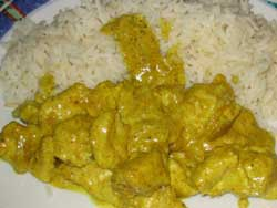 Poulet au curry rapide