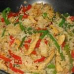 Riz thaï sauté au poulet