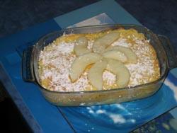Gâteau de semoule aux poires