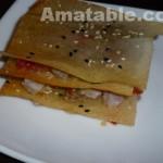 Mille-feuilles de thon aux fruits de la passion et yuzu