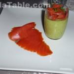 Mousse d'asperge au saumon fumé