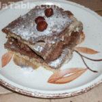 Dacquoise aux noisettes, praliné feuilleté et ganache chocolat